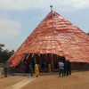 Abazaana at Kasubi Royal Tombs are happy for the food from Mengo but some is stolen on the way